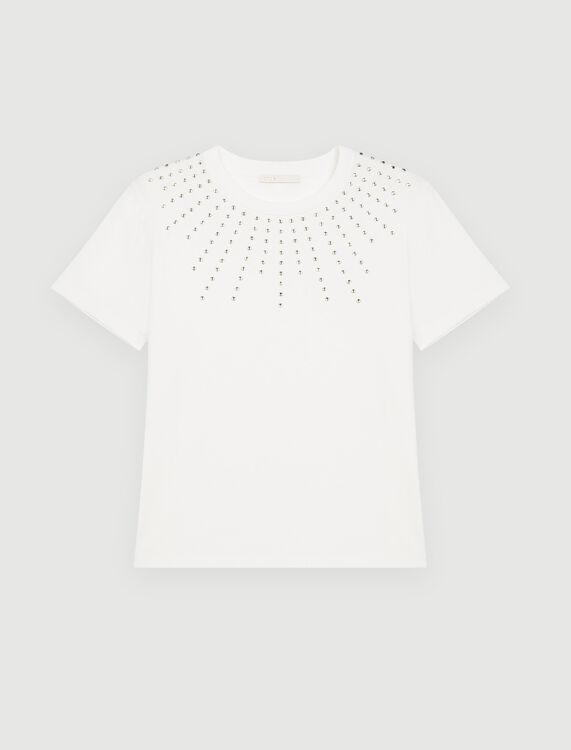 Rhinestone T-shirt - T-Shirts - MAJE