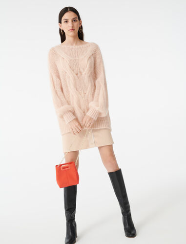 Cable knit sweater : Sweaters color Beige