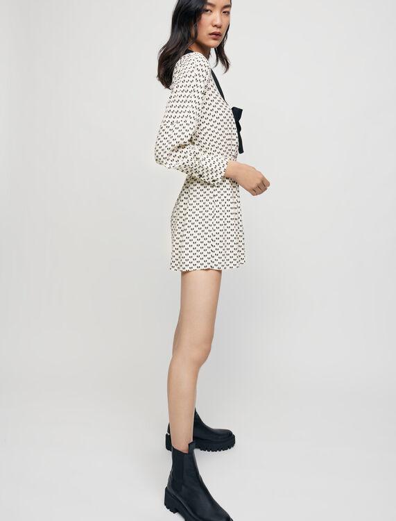 Bow print playsuit - Jumpshort & Jumpsuits - MAJE