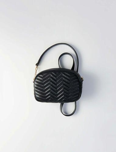 Quilted velvet shoulder bag : Camera bag color Black
