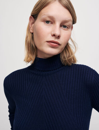 Roll-neck pullover : Sweaters & Cardigans color Navy