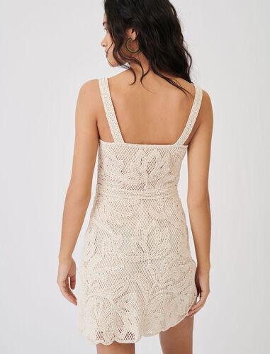 Macramé-style strappy dress : Dresses color Beige