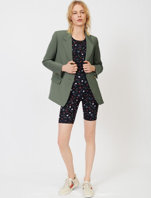 Straight-cut fresco wool suit jacket - Blazers - MAJE