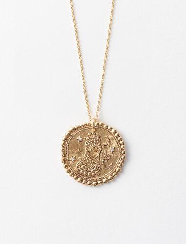 处女座立体图案项链 : 首饰 顏色 古铜色/OLD BRASS
