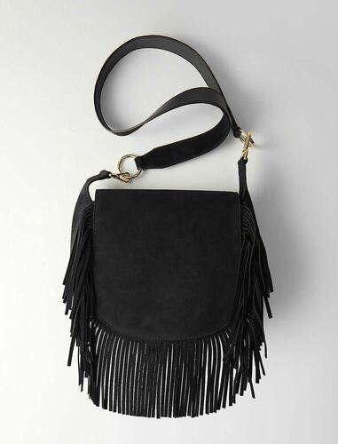 Leather and suede fringe Gyps GM handbag : Additional 10% off color Black