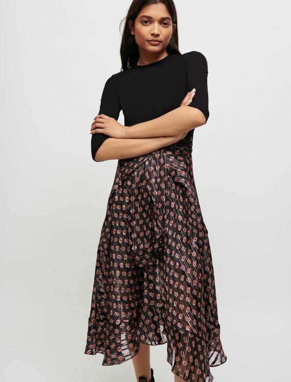 Trompe l'œil printed dress - Dresses - MAJE