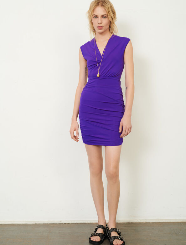 Dress in stretch technical fabric : Dresses color Purple