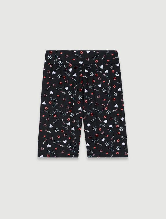 Printed cycling shorts - Shorts - MAJE