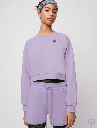 Fleece sweatshirt : Tops color Mauve