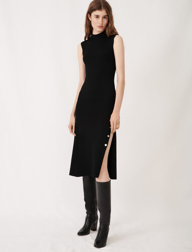 针织无袖连衣裙 : 连衣裙 顏色 黑色/BLACK