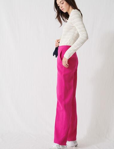 Fuchsia tailored trousers : Trousers color Fuchsia