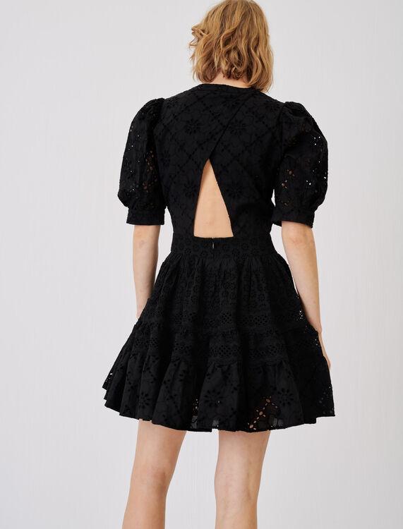 Skater dress in guipure - Dresses - MAJE
