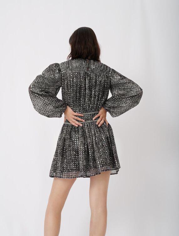 Short sequin dress : Dresses color Silver