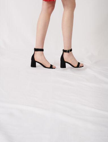 Strappy midi-heeled sandals : Sling-back & Sandals color Camel