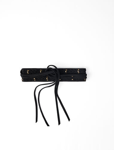 Horsebit-style tie belt : Belts color Red