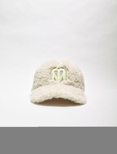 Faux fur cap : Other accessories color Ecru