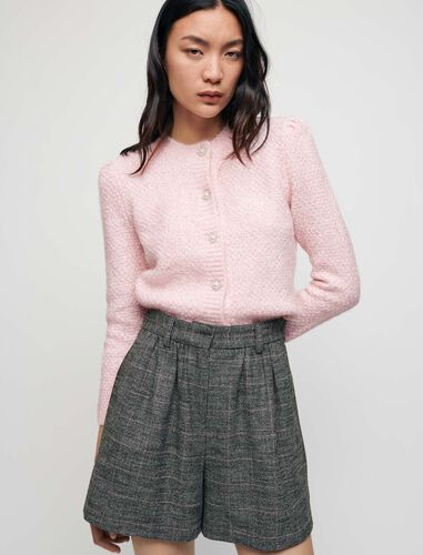 Flowing checked shorts : Shorts color Grey