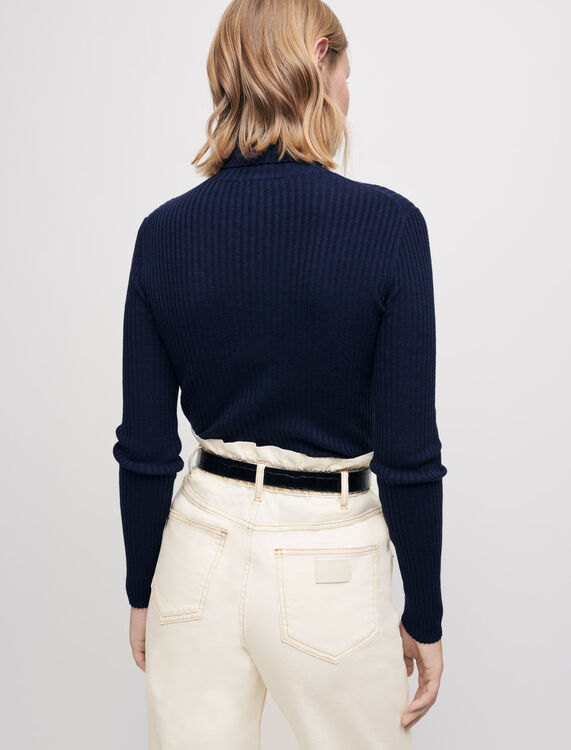 Roll-neck pullover - Sweaters & Cardigans - MAJE