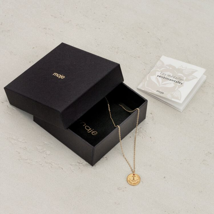 """""""Mon coeur"""" gold-plated necklace -  - MAJE"""