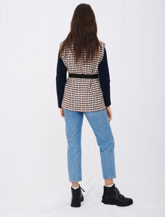 Tweed-style cardigan-inspired jacket : NEW IN color Blue/White