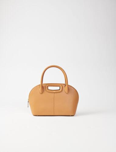 Camel smooth leather handbag : Shoulder bags color Camel