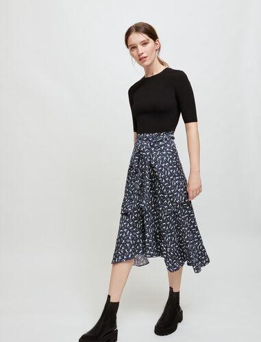 束腰错体连衣裙 : Dresses 顏色 多色/