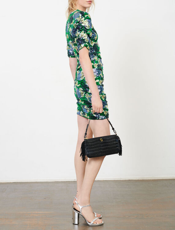 Embroidered sequin dress - Dresses - MAJE