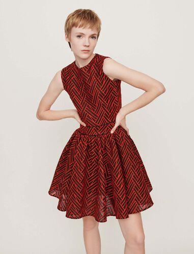 Basket-stitched knit dress : Dresses color Green