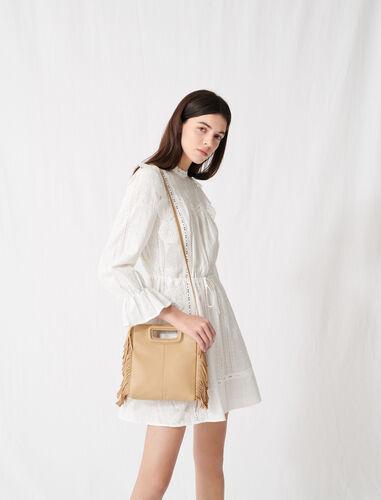 Leather M bag : M Bag color Beige