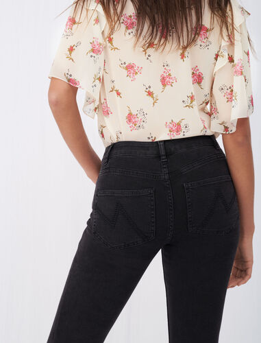 Mid-rise skinny jeans : Trousers & Jeans color Anthracite