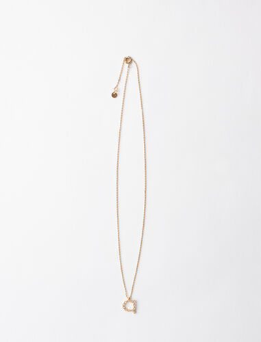 Rhinestone A necklace : Jewelry color Gold