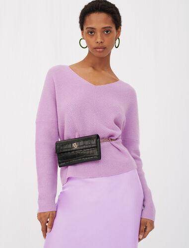 V-neck cashmere sweater : Sweaters color Ecru