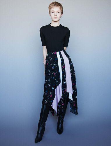 Mixed print trompe-l'oeil dress : Dresses color Multi-Coloured