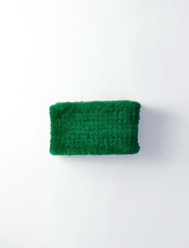 Green fake fur scarf : Scarves and shawls color Green