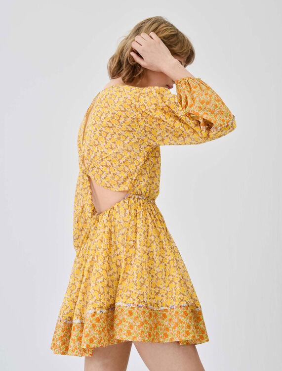Printed cotton voile dress - Dresses - MAJE