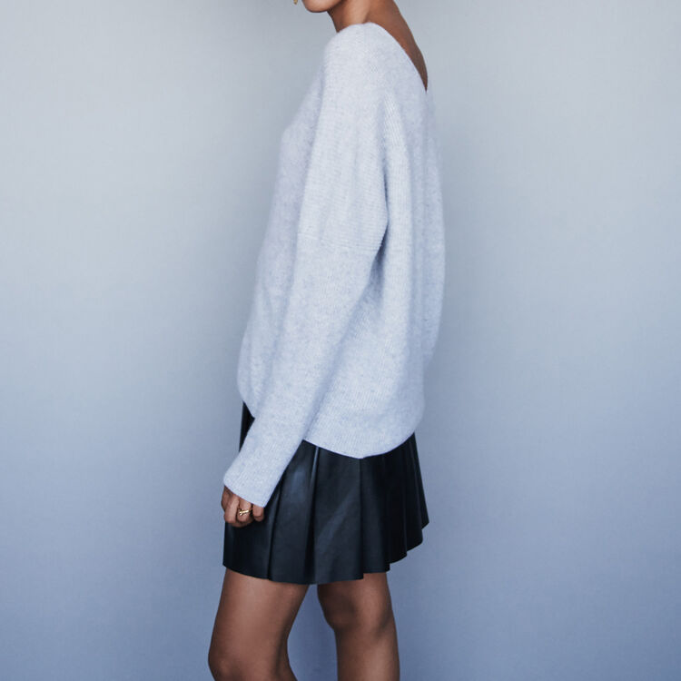 V-neck cashmere sweater - Cardigans & Sweaters - MAJE