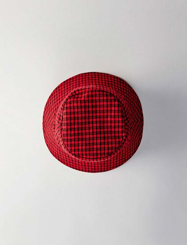 Reversible cotton bob with tweed pattern : Hats color Red