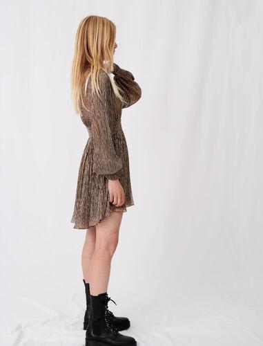 Lurex skater dress : Dresses color Copper