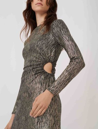 Stretch fabric figure-hugging dress : Dresses color Gold