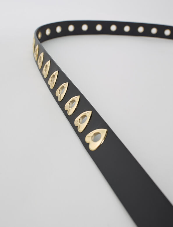 Heart eyelets belt : Belts color Black