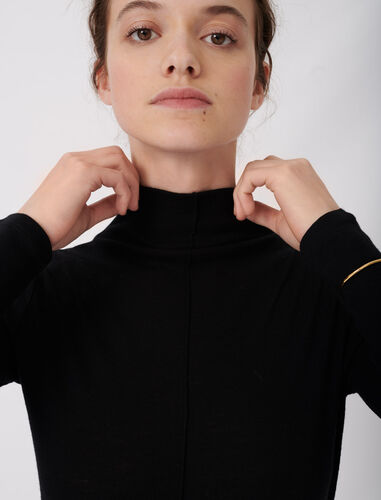 Long-sleeved sweater : Sweaters color Black