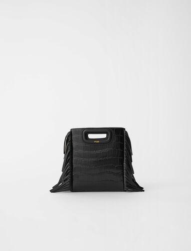 鳄鱼皮纹理流苏包 : M Bag 顏色 黑色/BLACK