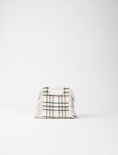 Tweed mini M bag with chain : M Mini color Ecru