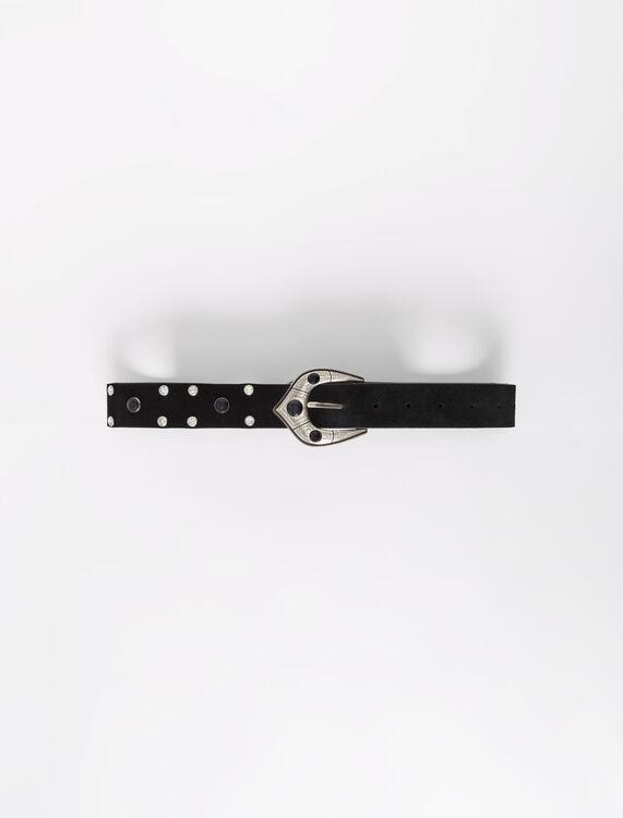 Berber-style suede leather belt - Belts - MAJE