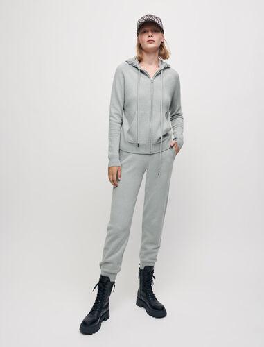 100% cashmere tracksuit trousers : Trousers & Jeans color Ecru