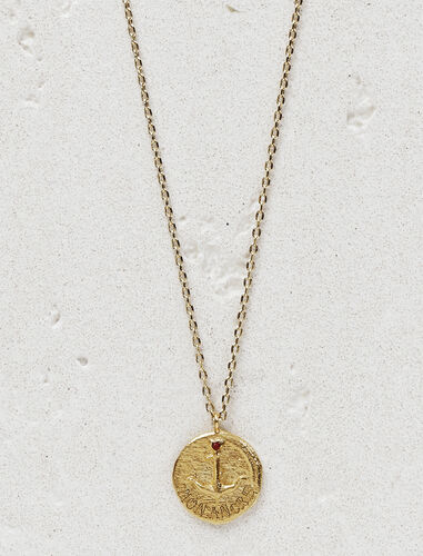 "Necklace with medallion ""Mon ancre"" : Sentimental medals color Gold"