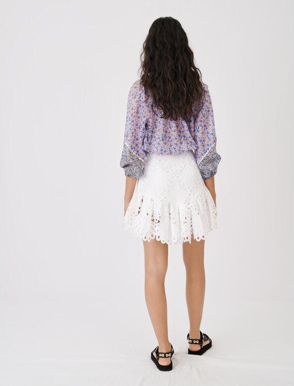 Guipure skirt : Skirts color Ecru