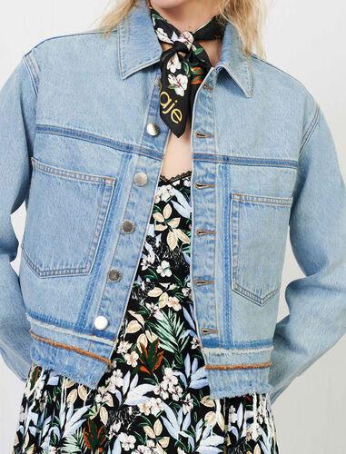Faded, used-look denim jacket : Coats & Jackets color Light Blue
