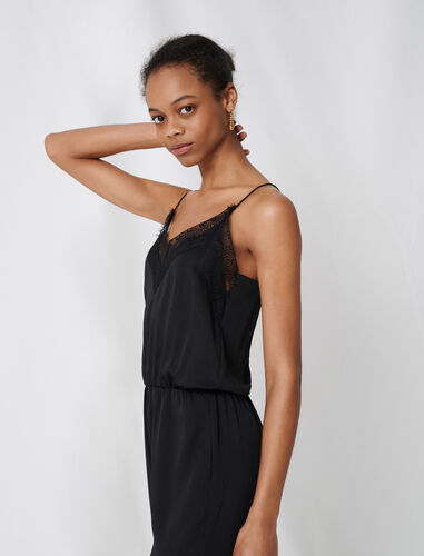 Satin jumpsuit : Jumpshort & Jumpsuits color Black