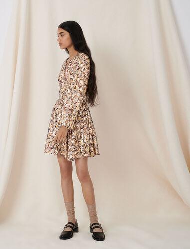 印花长袖连衣裙 : 连衣裙 顏色 Q002